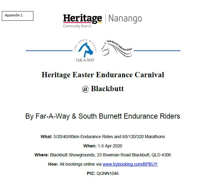 Heritage Easter Endurance